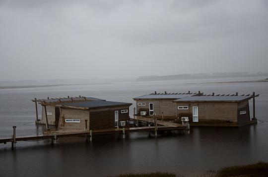 maisons flottantes sur la lagune Garzon