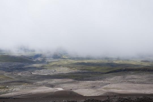 le parc national du Cotopaxi vu d'en haut