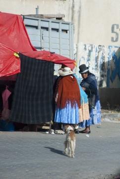 Boliviennes au marché, La Paz